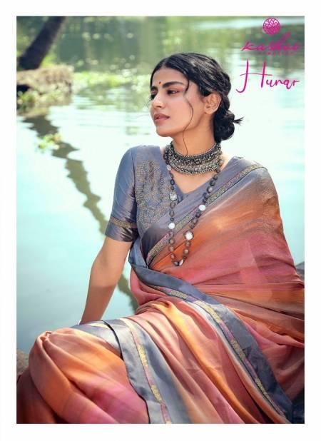 Kashvi Hunar Latest Fancy Casual Wear Printed Chiffon Sarees Collection