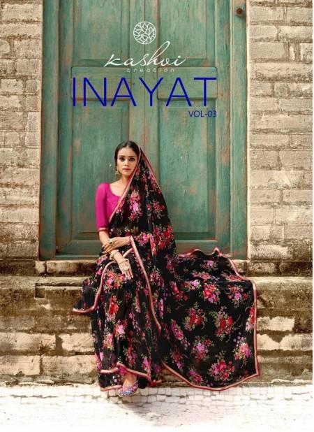 Kashvi Inayat 3 Latest Fancy Designer Chiffon Regular Casual Wear Printed Sarees Collection
