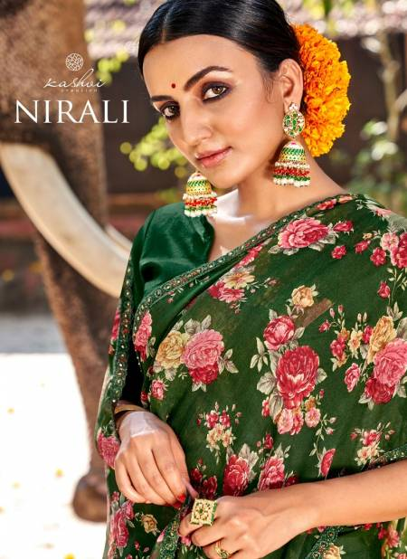 Kashvi Nirali Fancy Latest Fancy Designer Heavy Regular Casual Wear Chiffon Printed Sarees Collection
