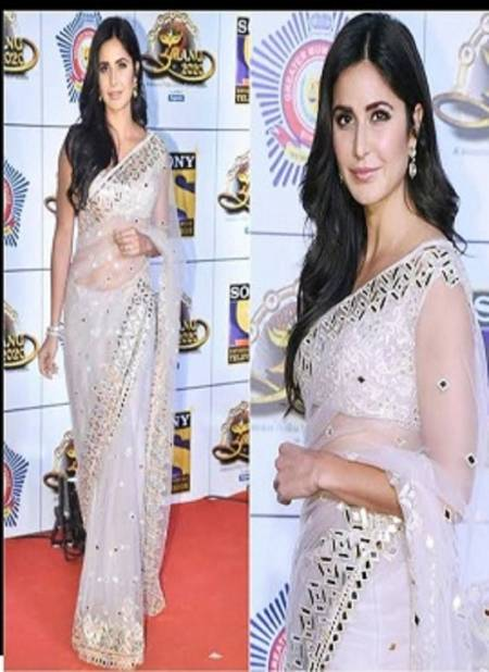 Katrina Kaif Rich Look Latest Heavy Designer Party Wear Stylish Look Saree Collection