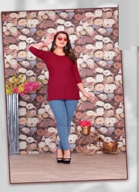 Katty Fancy Wear Casual Wear Rayon Ladies Top Collection