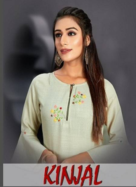 Kd Kinjal Latest Designer Work Casual Wear Cotton Slub Kurtis With Pant Collection