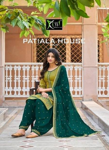 Kessi Patiyala House 83 Latest Fancy Casual Wear Jam Silk With work Designer Dress Materials Collection
