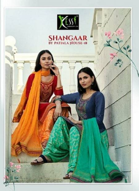 Kessi Shangar By Patiyala House Vol 18 Latest Designer Festival Wear Jam Silk With Embroidery Work Dress Material Collection