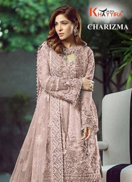 Khayyira Charizma 2002 Series Latest Fancy Designer Wedding Wear Butterfly Net With Work Pakistani Salwar Suits Collection