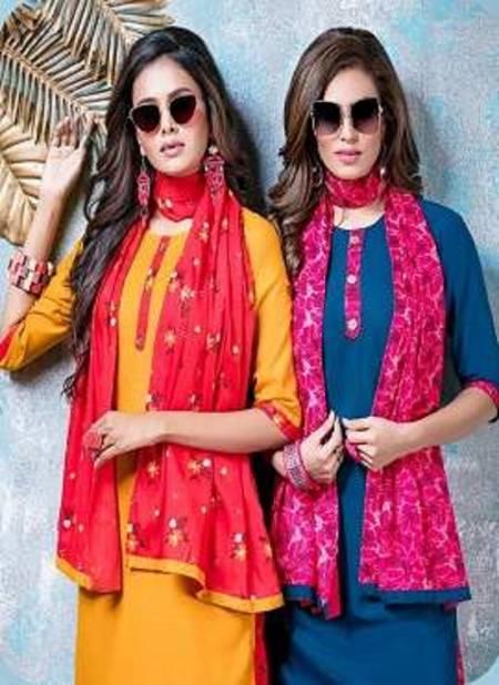 Kinti Patiyala Vol 1 Latest Designer Daily Wear Rayon Printed Readymade Dress Collection