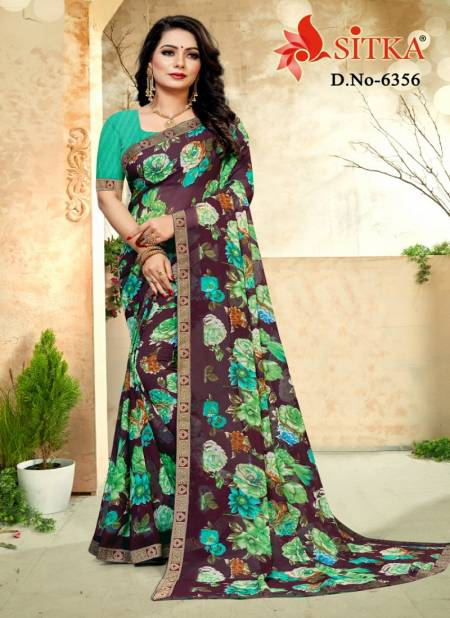 Kohinoor Marble Latest Daily Wear Chiffon Printed Bordered Saree Collection