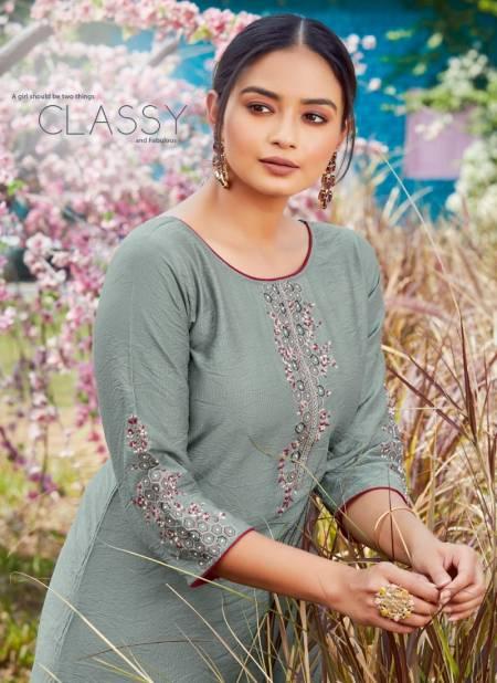 Koodee Mahi 6 Fancy Designer Festive Wear Fancy Nylon viscose With Embroidery And Khatli Work Kurtis With Bottom Collection