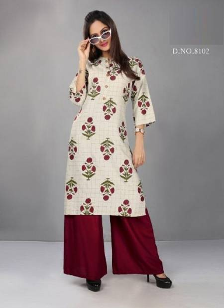 Kushal Exclusive Stylish Casual Wear Rayon Kurti With Bottom Collection