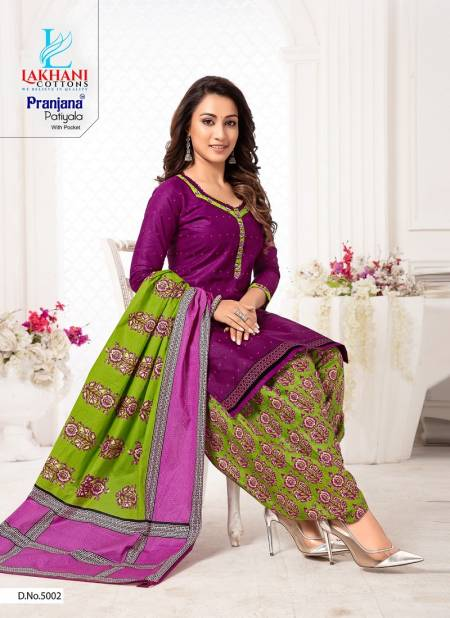 Lakhani Pranjana Patiyala 5 Latest Fancy Designer Regular Casual Wear Ready Made Printed Cotton Salwar Suit Collection