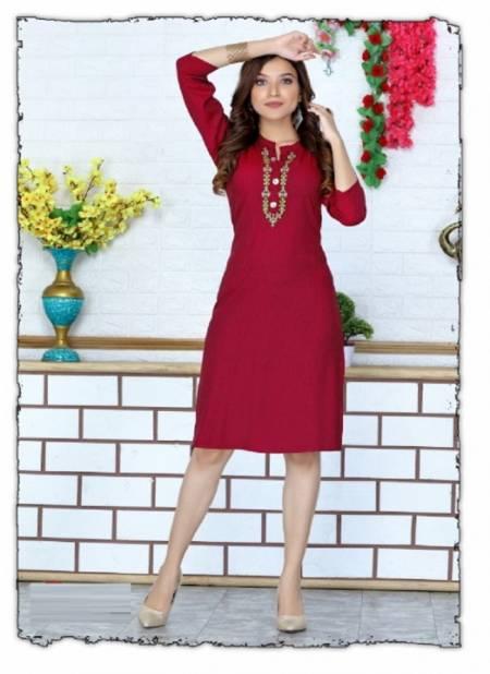 Lamhe Ethnic Regular Wear Rayon Designer Kurti Collection
