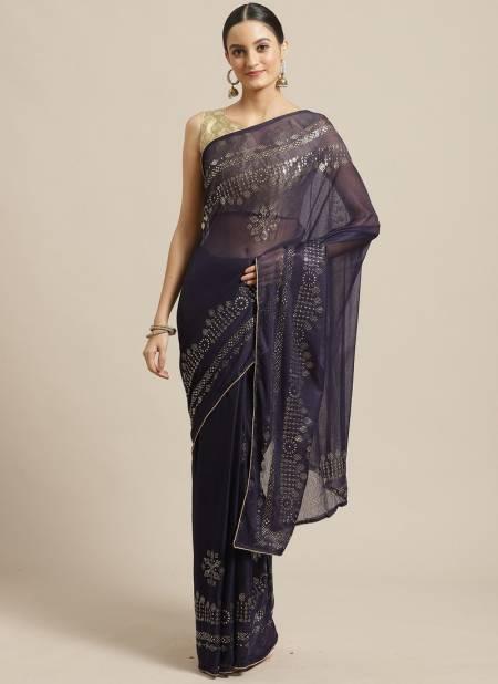 Latest Collection Of Designer Casual Wear Chiffon Saree