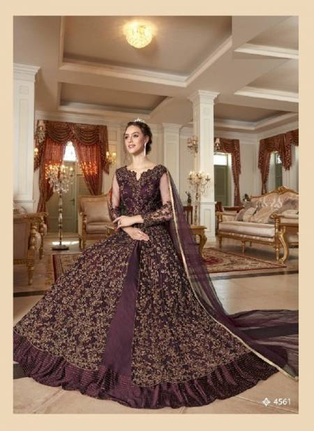 Latest Elegance 4561 Colors Exclusive Heavy Embroidery Work Wedding Wear Salwar Suit Collection