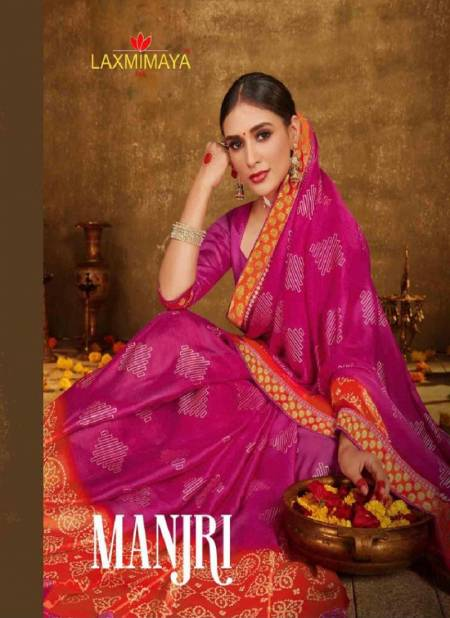 LAXMIMAYA MANJRI Latest Fancy Casual Wear Designer China Chiffon printed Saree Collection