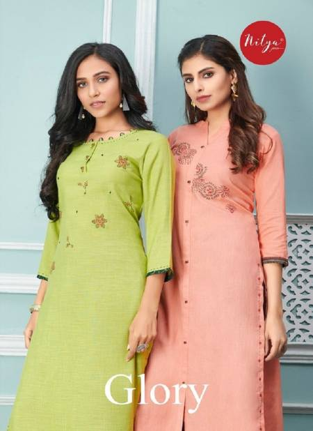 LT FABRICS GLORY Latest Fancy Festive Wear Heavy Designer Rayon Kurtis With Bottom Collection