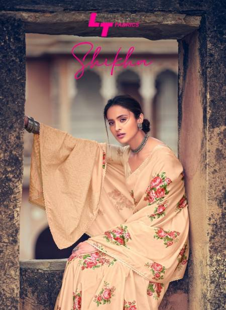 Lt Shikha Latest Fancy Silk Ethnic Wear Dola Silk With Lucknow Work And Crochet Lace Saree Collection