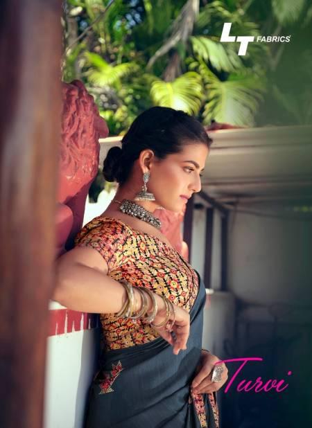 Lt Turvi Silk Latest Fancy Designer Casual Wear Printed chiffon Sarees Collection
