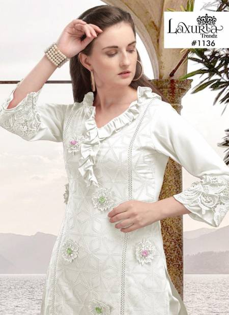 Luxury pret Collection 1136 Latest Fancy Party And Festive Wear Designer Tops With Bottom Collection