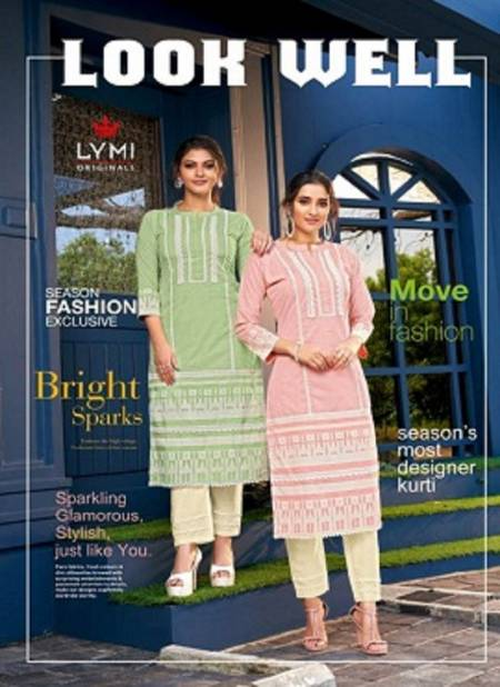 Lymi Look Well Pure Cotton Latest fancy Designer Kurti With Pant Stylish Collection