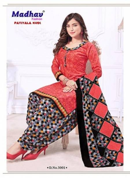 Madhav Patiyala Kudi 5 Latest Fancy Designer Regular Casual Wear Cotton Printed Readymade Salwar suit Collection