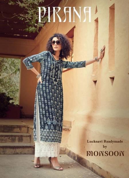 MAISHA PIRANA Latest Fancy Casual Wear Designer Rayon Digital Print And handwork Palazzo Readymade Collection