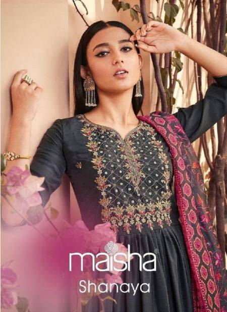 MAISHA SHANAYA Latest fancy designer festive Wear Pure Maslen With Hand Work And Beautiful Tassels On Back Readymade Salwar Suit Collection