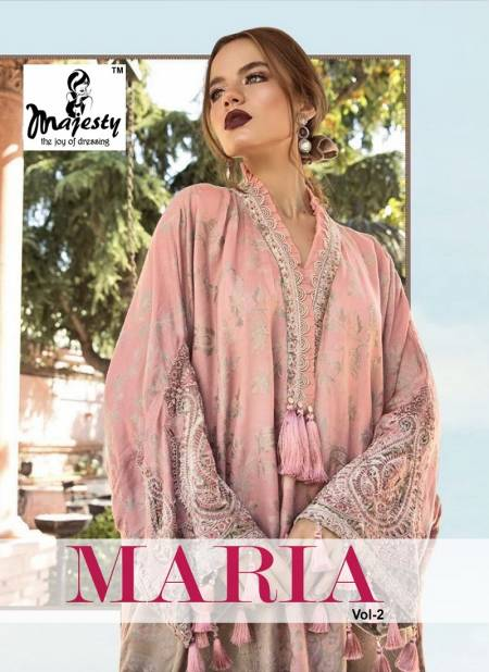 Majesty Maria Vol 2 Exclusive Collection Of Designer Printed Jam Silk Pakistani Salwar Suits