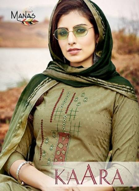 Manas Kaara Latest Casual Wear Rayon Fancy Dolby weaving with Embroidery work Readymade Collection