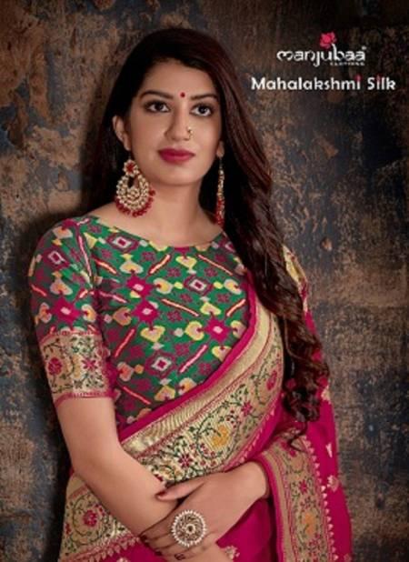 Manjubaa Mahalaxmi Latest Fancy Silk Festive Wear Heavy Pure Banarasi Sarees Collection