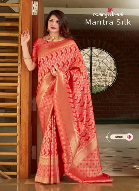Manjubaa Mantra Silk Latest Fancy Designer Festive Wear Banarasi Silk Sarees Collection