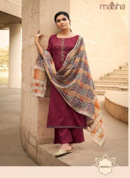 MASKEEN Latest Fancy Designer Casual Wear Fine Pure Cotton With Print And Embroidery Work Readymade Salwar Suit Collection