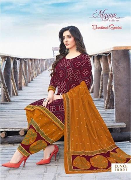 Mayur Bandhani Special 10 Latest Printed Patiala Regular Wear Pure Cotton Collection