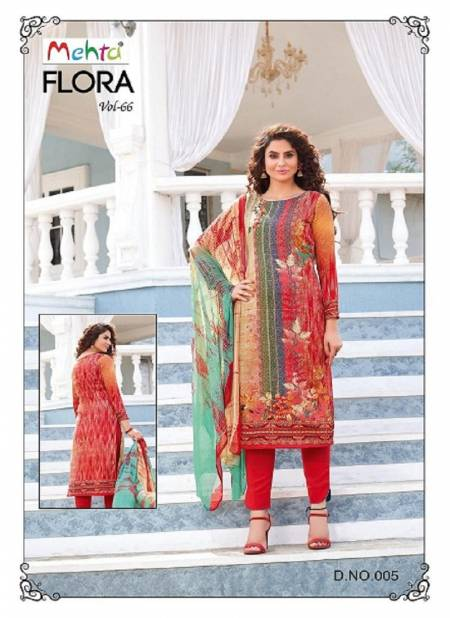 Mehta Flora 66 Latest fancy Regular Casual Wear Pure Cotton Printed Cotton Dress Material Collection