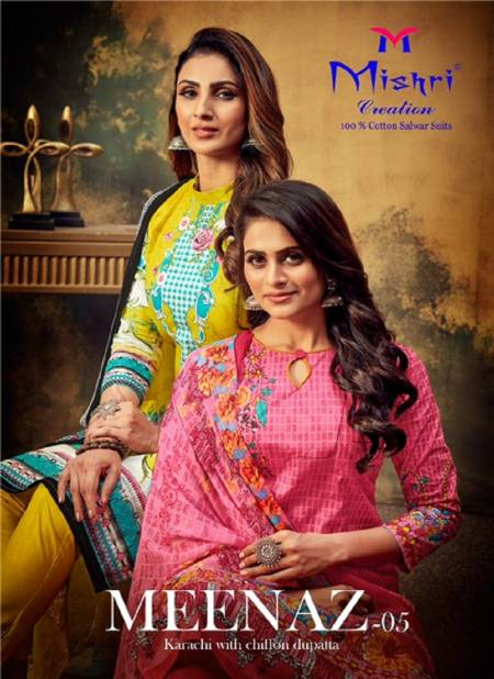 Mishri Meenaz 5 Latest Fancy casual wear Karachi Special Printed Dress Material Collection