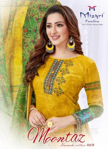 Mishri Moontaz 9 Latest Fancy Heavy Regular Wear Pure Cotton Karachi Dress Materials Collection