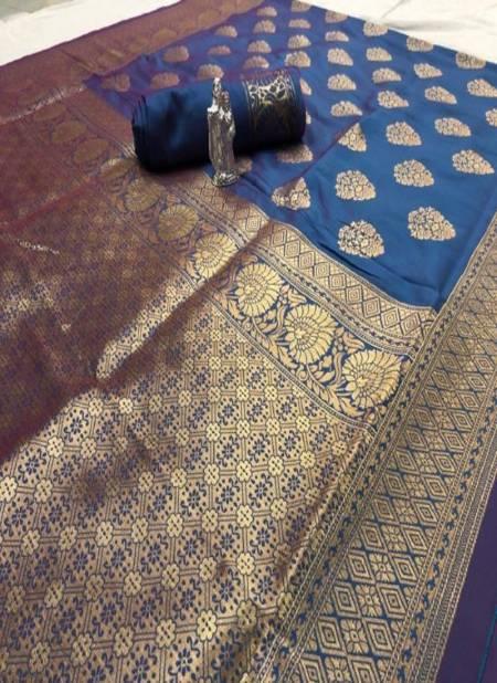 Mysore Silk Designer Heavy Saree Collection With Fancy Golden Print Design