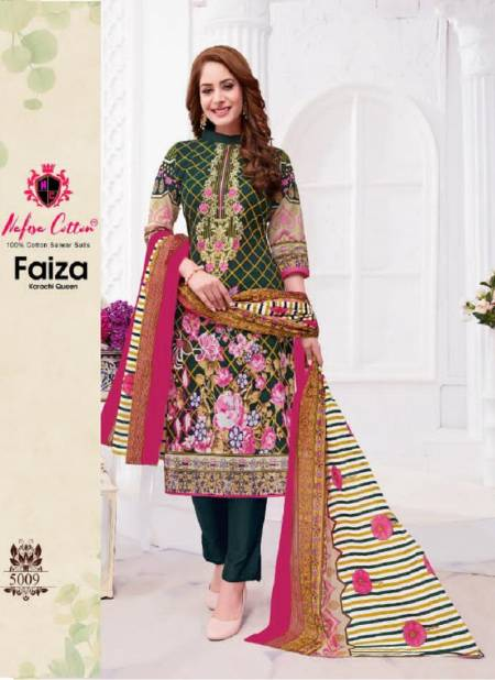 Nafisa Faiza Karachi Queen Vol-5 Printed Casual Wear Cotton Dress Material