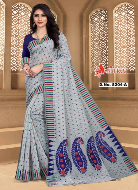 Naira 8204 Casual Daily Wear Fancy Look Poly Cotton Saree With Blouse Collection