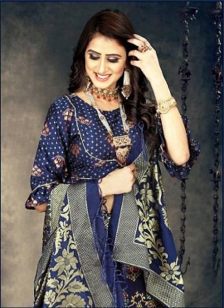 Navya 1 Latest Designer Banarasi Silk Wedding Wear Lehenga Choli  Collection