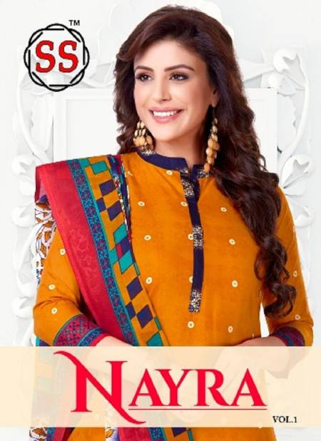 Nayra 1 Latest Fancy Designer Casual Regular Wear Pure Cotton Printed Dress Material Collection