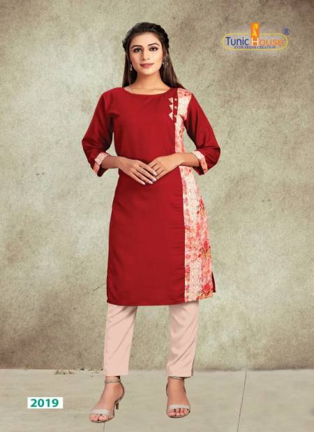 NEHA TANISHA Latest fancy Daily Wear Slub Cotton with contrast print Kurtis Collection