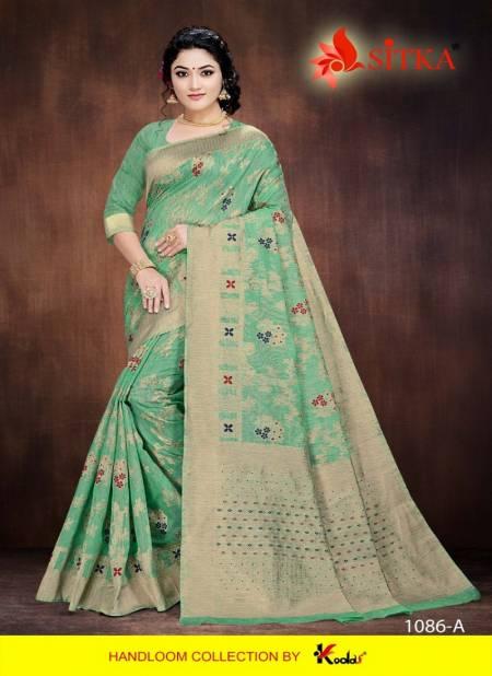 New Girl 1086 Latest Designer Party Wear Festive Wear Handloom Cotton Silk Saree Collection