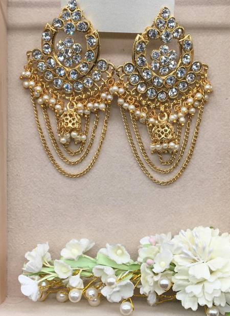 New Jhumka And Chain Design Earrings Collection For Party And Functions