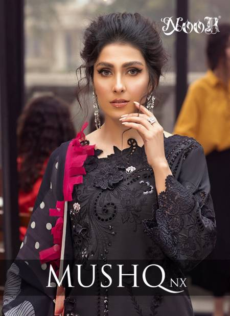 Noor Mushq Nx fancy festive wear Pakistani Premium Pure Cotton With Embroidery work Salwar Kameez Collection