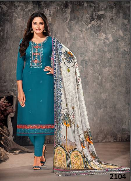 Orrly 4 Designer Latest Fancy Designer Festive Wear Jam Cotton Dress Material Collection