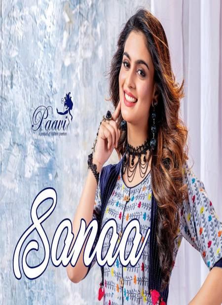 Paavi Sanaa Exclusive Stylish Designer Rayon Casual Wear Long Kurtis Collection