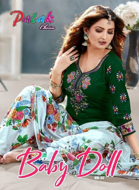 Palak Baby Doll Vol 2 Designer Ready Made Pure Printed Cotton Salwar Suit Collection
