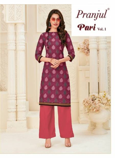 Pranjul Pari Vol 1 Latest Pure Cotton Classy Printed Kurti Collection