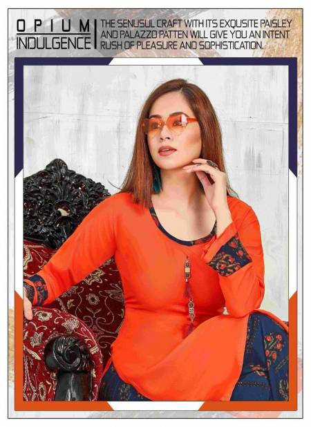 Prinal Glam Girl Latest Fancy Regular Casual Wear Rayon Printed Kurtis With Bottom Collection