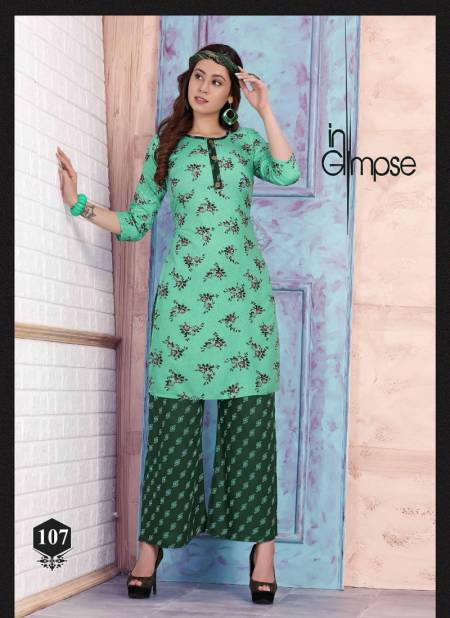 Prinal Rosy Latest Fancy Designer Casual Wear Rayon Printed Kurtis With Bottom Collection